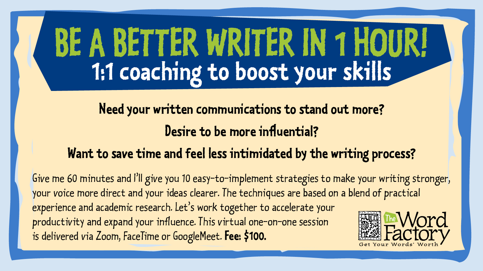 Be a better writer in 60 minutes with writing coach Margot Lester
