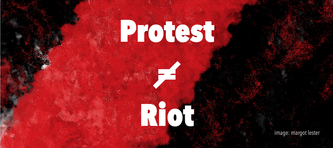 The difference between a protest and a riot