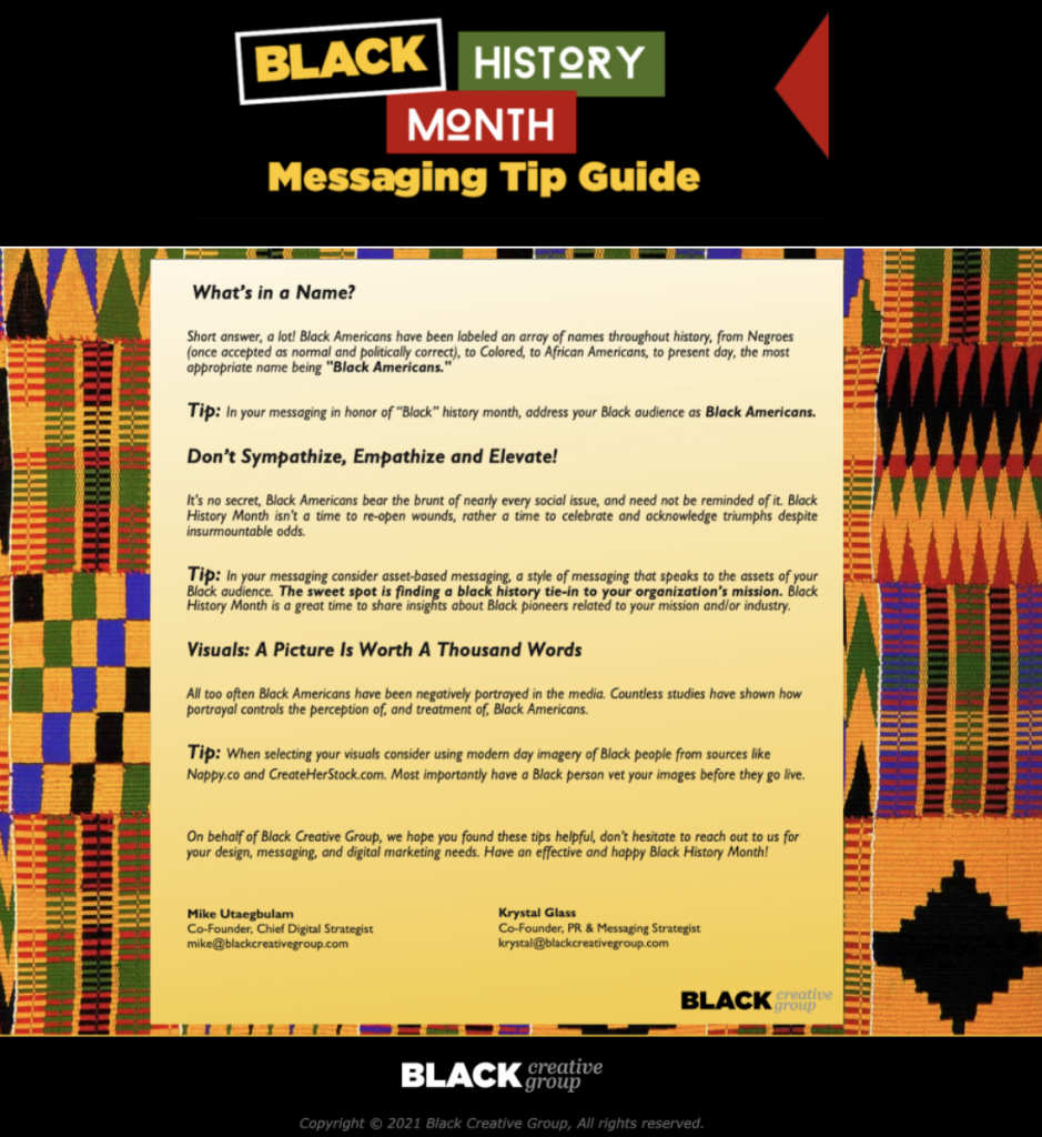 Black History Month messaging tips