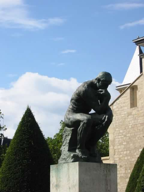 Rodin's The Thinker, photo by MC Lester