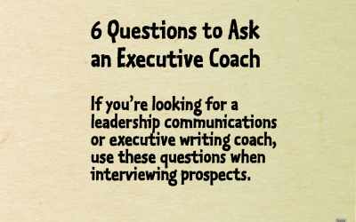 6 questions to ask an executive coach
